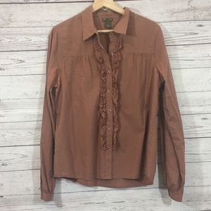 Anthropologie Fei Long Sleeve Button Down Size 12